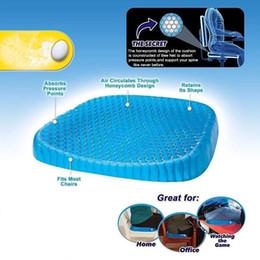 Honeycomb gel online shopping - Silicone Gel Chair Cushion sitter Cool Down Seat Cushions d Pillow Wheelchair Cushion Massage Breathable Honeycomb Car Sofa FFA1883