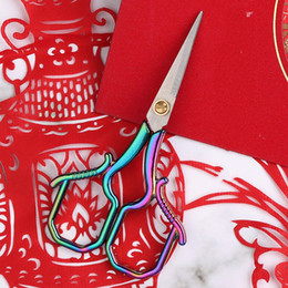 Stainless Steel Clipper Embroidery Scissors Household Woollen Yarn Universal Multi Function Shears Fashion Portable New Pattern 5 4yc J1 on Sale
