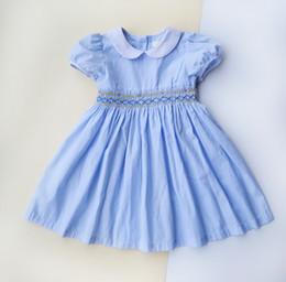 $enCountryForm.capitalKeyWord Australia - New Baby Girls Stripe Princess Dress Summer Kids Ruffle Short Sleeve Doll Collar Party Dresses Palace style Lip Children Formal Dress Y2486