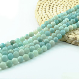 $enCountryForm.capitalKeyWord Australia - Amazonite Bead 8mm 47pcs strand Natural Gemstone Beads Manufacturer 15 inch strand per set For Jewelry Making