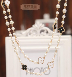 $enCountryForm.capitalKeyWord Australia - NEW Women Fashion Necklace Natural Pearl Necklace Sweater Multilayer Diamond Necklace Import Crystal Brooch Bridal Jewelry Jewelry