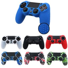 sony playstation case 2019 - Silicone Protective Case For Sony PS4 Slim Pro Controller Camouflage Skin Anti-slip Soft Case Cover for Playstation Dual