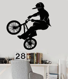 decals for bicycles NZ - Wallpaper Fashion Vinyl PVC Wall Decals Bicycle Bike BMX Sport Extreme Stickers Home Decoration Art Murals