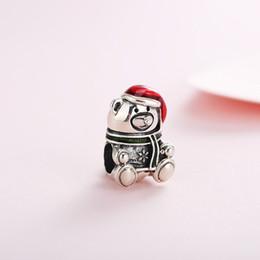 $enCountryForm.capitalKeyWord Australia - Spring Authentic Real 925 Sterling Silver Christmas Bear Charms Fit Pandora Bracelet