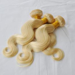 $enCountryForm.capitalKeyWord NZ - Brazilian Body Wave blonde Hair 613 Bundles Bleached 10-28 Inch 100% color 613 Human Hair blonde Weave Non Remy Hair Extensionl