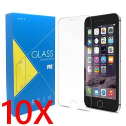 Iphone Glass Screen Guard Australia - (10 Pack) 0.26mm 9h Premium Tempered Glass Screen Protector Protective Film Guard For Apple Iphone X 5 5s Se  6 7 8 Plus J190505