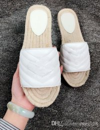 $enCountryForm.capitalKeyWord Australia - fashion female slippers Ms. h leather Summer thick bottom flat indoor slippers Home Furnishing outdoor wear shoes Size 35-41 with box
