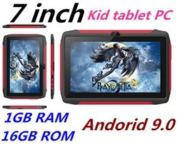 tablet android q8 Australia - Newest kid Tablet PC Q98 Quad Core 7 Inch 1024*600 HD screen Android 9.0 AllWinner A50 real 1GB RAM 16GB Q8 with Bluetooth wifi factory