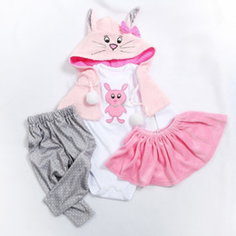 $enCountryForm.capitalKeyWord Australia - 5 Different Styles Two Sizes 47 Or 60cm Doll Dress Reborn Baby Doll Clothes High Quality Dress All Cotton Clothes MX190801