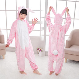 cute kigurumi costumes 2019 - cosplay costumes kids Cute Fannel Loose Kigurumi Rabbit Pajama for Girl New Year Winter Soft Jumpsuit Loose Hare Costume