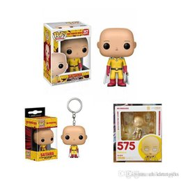 $enCountryForm.capitalKeyWord Australia - Wholesale DHL shipping Funko POP One Punch Man Saitama Vinyl Action Figure With Box Popular Toy KEYRING Good Quality 3STYLE T542