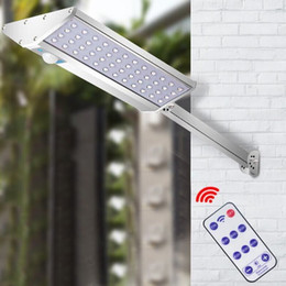 Side mountS online shopping - 10W Aluminum Wall Sconces with Mounting Pole and Remote Control Motion Sensor LED Solar Light Waterproof Double Side Lighting