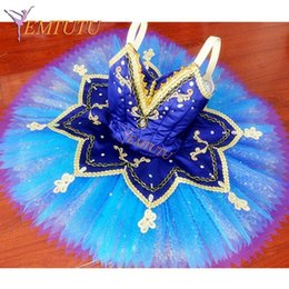 $enCountryForm.capitalKeyWord Australia - Adult Le Corsaire Professional Ballet Tutu Blue Women Performance Pancake Tutus Blue Bird Ballet Stage Costume Custom Made