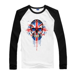 Wholesale shirt customization for sale - Group buy United Kingdom Skull To The Core New Youth Cotton Baseball Sports Mens T Shirts Group Customization