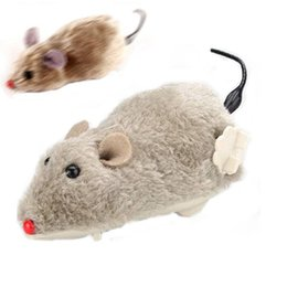 pet mouse supplies Australia - Tease Cat Toys Plush Clockwork Spring Mouse Can Run for indoor, Not Need Battery, Color Random Cat Supplies Pet Products