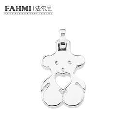 Moonstone diaMond online shopping - FAHMI sterling silver Fashion Youth Cute Casual Bear Pendant Original Charm Women Charming Gift Valentine s Day
