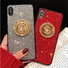 Iphone Cases Rhinestones Wholesale Australia - Free DHL EGEEDIGI Premium bling luxury diamond rhinestones can be rotated gold coin flash phone case for iPhone XR XS MAX X 8Plus 7 6S Plus