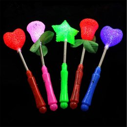 kids wands 2019 - LED flashing light up sticks glowing rose star heart magic wands party night activities Concert carnivals Prop birthday