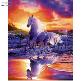 $enCountryForm.capitalKeyWord NZ - 5d Diy Diamond Painting Horse Full Round Diamond Embroidery Animal 3d Cross Stitch Rhinestone Moaic Painting Home Decor Pa271