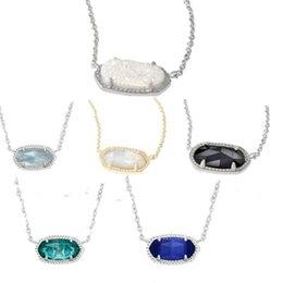 Rhinestone Glasses Chain Australia - Free shipping Vug shell glass stone necklace chain of clavicle