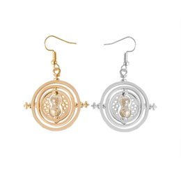 Discount hourglass jewelry - Time Turner Earrings Hermione Earring for Girl Women jewelry Hourglass Potter silver tone and gold tone