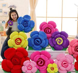 China giant colorful rose plush pillow creative sofa car bed cushion pillow flower toys for girl gift wedding decoration 35inch 90cm cheap flowers for wedding car decoration suppliers