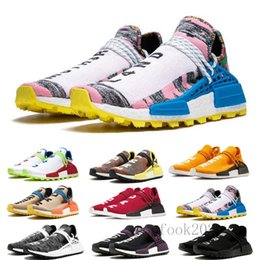 trail trainers UK - Human Race Hu Trail PW Running Shoes Pharrell Williams Digijack Pack BBC Cream Nerd Know Soul Women Mens Trainers Sports Sneakers HJD-5P