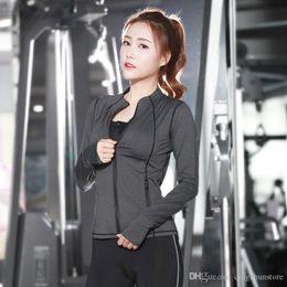 $enCountryForm.capitalKeyWord Australia - New long-sleeved female models running fast dry fitness clothing suits yoga clothes female three-piece trendy sportswear