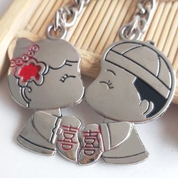 $enCountryForm.capitalKeyWord Australia - Hot-selling inventory wholesale creative couple keys, a pair of alloy pendants Valentine's Day wedding gifts