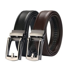 d123dcebc1c Men Belt Designer Cow Genuine Leather Belts Man Automatic Buckle Cowhide  Belts Luxury COMFORT CLICK belt Black Brown customize logo z339