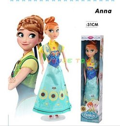 Chinese  31CM Frozen Snow and ice princess wonder doll Anna princess doll set American PVC Kawaii Children Toys Anime Action Figures o12 manufacturers