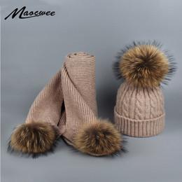 $enCountryForm.capitalKeyWord NZ - Hot Sale Raccoon Fur Ball Women's Knitted Pom Pom Warm Winter Scarves for Women Fashion Girl Female Scarf