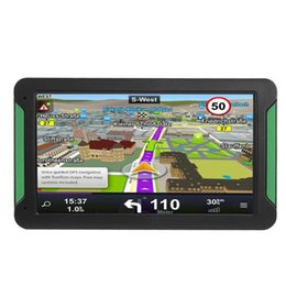 gps car navigation europe map Australia - 7 Inch Touch Screen HD GPS Car Navigation Car Truck GPS Navigation Portable 128M+8GB FM Transmitter Europe America Australia Map