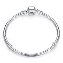 $enCountryForm.capitalKeyWord NZ - 2019 DIY Beads Pandora silver plated Heart Pave CZ Bracelet for pandora Chain with Bracelets 3MM snake Letter Stamp DIY bracelets gift
