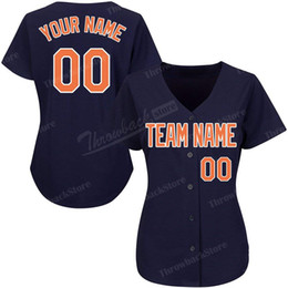 Women s products online shopping - Custom Women Baseball Jerseys Any Name Number Embroidery Navy Jersey Superior Quality Products Directly Free Ship
