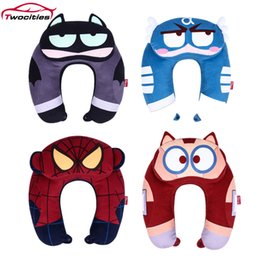 travel pillows for airplanes Australia - U-Shape Travel Pillow Airplane car Neck Pillow Travel Accessories soft Cartoon marvel hero Comfortable Pillows for Sleep Home