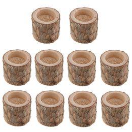 $enCountryForm.capitalKeyWord Australia - Lot 10pcs Natural Tree Stump Wooden Candle Holder Tea Light For Romantic Candlelight Dinner Wedding Party Decoration Y19061804