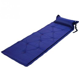 Wholesale 1Pcs Self Inflating Mattress Inflatable Outdoor Bed Pillow Sleeping Pad Air Mat Mattress Tent Picnic Camping Hiking Mat
