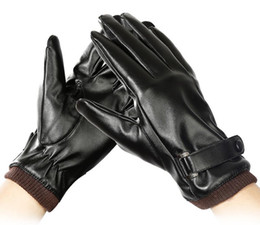 $enCountryForm.capitalKeyWord Australia - Men's Outdoor Skid-proof Sports Cycling Motorcycle Waterproof Winter Leather Glove Touch Screen Thickening and Plushing Wind-proof Warmth