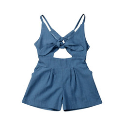 $enCountryForm.capitalKeyWord UK - New Kids Baby Girl Solid One-piece Bodysuits Backless Jumpsuit Outfit Summer Clothes