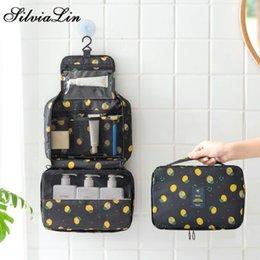 $enCountryForm.capitalKeyWord Australia - Fruit Lemon Pattern Hanging Toiletry Bag Men Travel Vanity Cases Lipstick Gadget Wash Sorting Tote Bathroom Make Up Bags