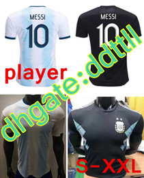 Wholesale Player Version Copa América Argentina home away Soccer Jerseys MESSI Soccer Shirt National team Football Uniforms On sale
