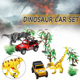 China Big Size Dinosaur World Small Car Trailer Transporter Model Education Toy Set New Plastic Play Toys For Boys Kids Children gift cheap red dinosaur toy suppliers