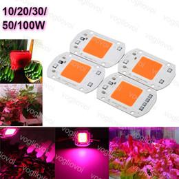 venda por atacado LED Crescer Luzes COB Chip 110 V 220 V 20 W 30 W 50 W Espectro Completo Para Grwon Luzes Estufa Crescer Plantas de Barraca Flor DIY Epacket