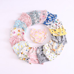 Nappies paNts online shopping - 25 Colors Baby Diaper Cartoon Print Toddler Training Pants Layers Cotton Changing Nappy Infant Washable Cloth Diaper Panties Reusable M584