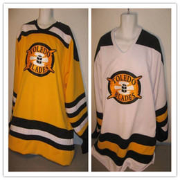 Vintage Blades Australia - Toledo Blades vintage hockey jersey Embroidery Stitched Customize any number and name Jerseys