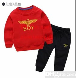 Discount infant boys short suits - 2019 HOT SELL fashion classic Style Chi2018 new For Boys And Girls classic Sports Suit Baby Infant Short Sleeve Clothes