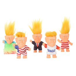 Figures Australia - Donald Trump Action Figures Doll USA President John Trump Dressed Model Kids Children Hand Play Funny Toys Christmas B11