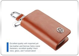 volkswagen leather key case NZ - Upgraded advertising leather key case key case Volkswagen Chevrolet
