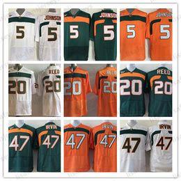 b64070771 Pittsburgh Steelers Jerseys Australia - NCAA Miami Hurricanes Jerseys Mens  5 Andre Johnson 20 Ed Reed
